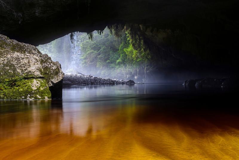 Moria Gate Arch, Oporara.  South Island, New Zealand