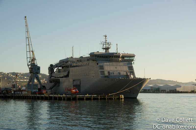 HMNZS Canterbury at Queens Wharf, Wellington for the RNZN 70th Anniversary celebrations