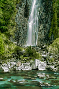 Thunder Creek Falls, Haast Mt Aspiring National Park