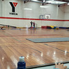 We had a go at the YMCA gym class... check out the polished wooden beams, I think they stopped making those in 1972