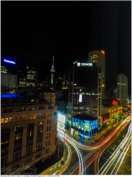 Sky tower at night <3