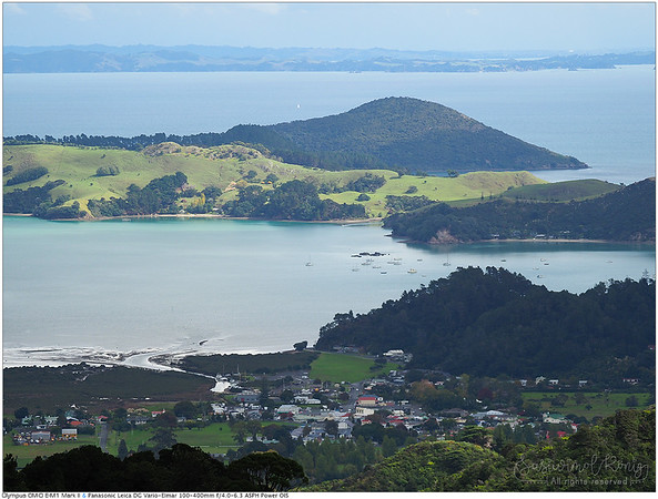 @ The Coromandel, view of Wyuna bay, Whanganui Island.