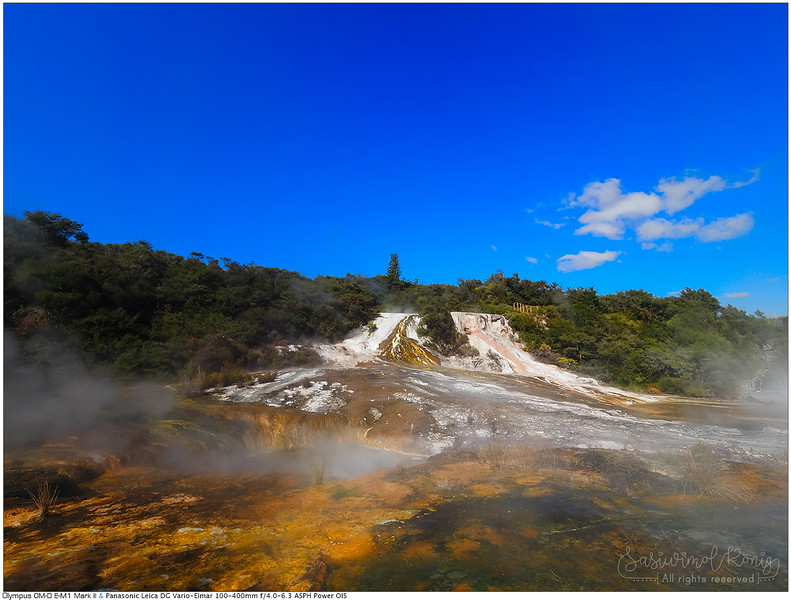 Colorful geothermal wonderland