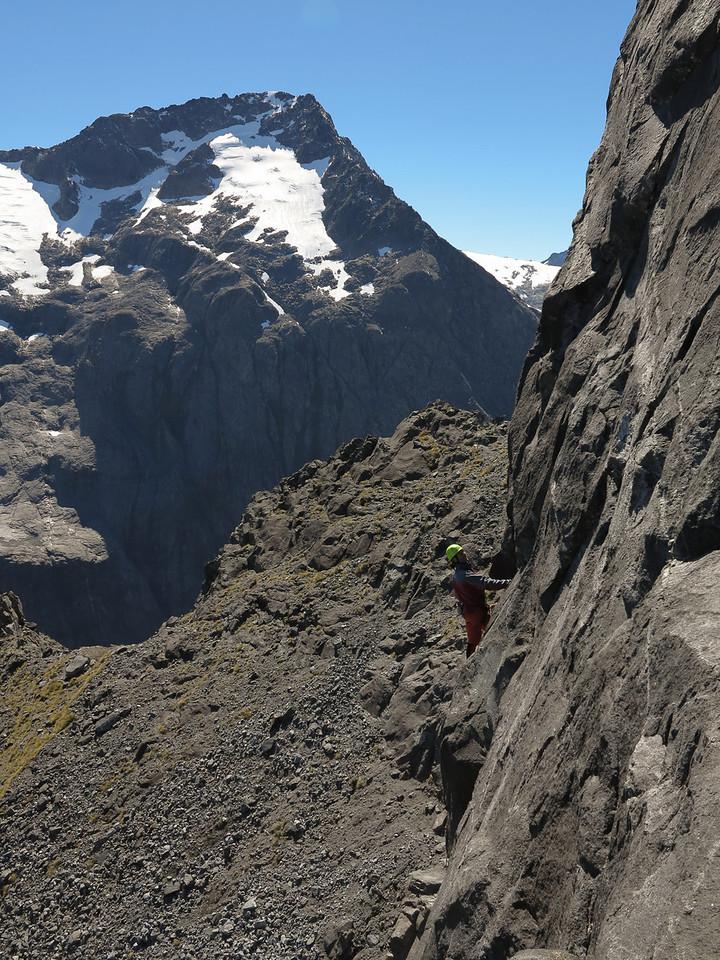 Rich Turner and Dave Vass climbing on 'Rough Diamond'