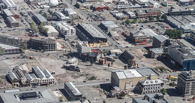 Christchurch City CBD High Street and Manchester Street intersecting bottom right with Lichfield Street.