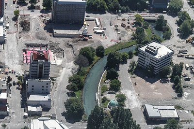 Christchurch City CBD Location of PwC Building (pink) and PGC Building (lower right)