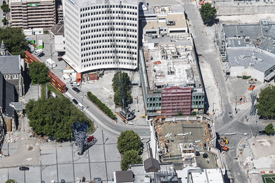 Christchurch City CBD BNZ Building coming down