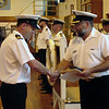 Lt Chris Stevens receives The Pegasus Sword for Outstanding Performance throughout the Year by an Officer