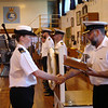 Ens Turnbull receives GL Shaw Trophy for Most Improved Junior Officer