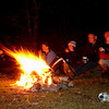 Telling stories round the camp fire