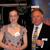 Dominica Finch & her father Robert.  Dominica won the HMNZS Canterbury Scholarship
