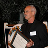 Phil Badger from Zealandia accepts award of Employer of the Year