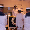 Cdr Goldsworthy takes the salute