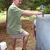 Getting PK's new ablutions block ready - that's the water tank for the shower