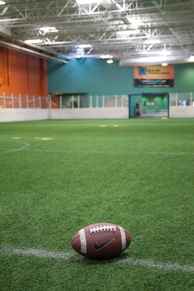 Football on field 1