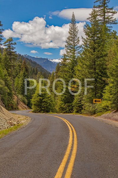 Road to Rimrock Lake