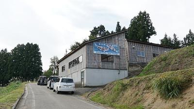 The koi house of Shintaro koi farm