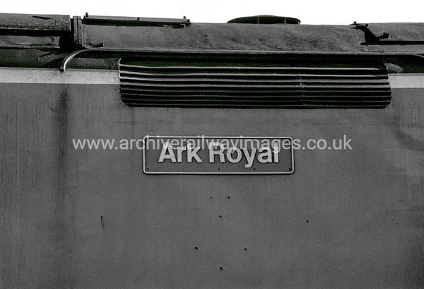 50035 Ark Royal 1/9/90 Laira Depot