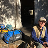 Ken packed for trip home, Olive Grove Guest House, Windhoek, Namibia