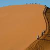 Climbing Dune 45, Sossusvlei, Namib Naukluft National Park