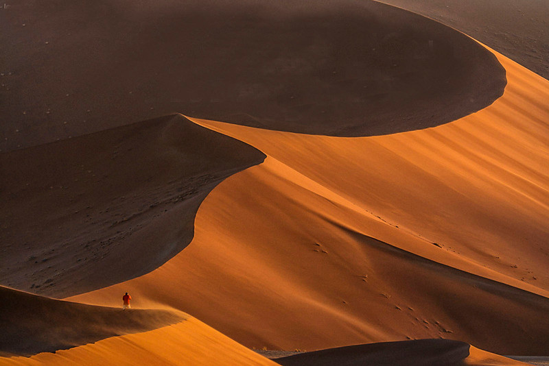 Man on dunes