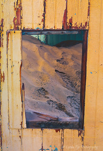Window Blocked With Sand