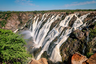 Ruacana Falls in Northern Namibia, Africa wilderness