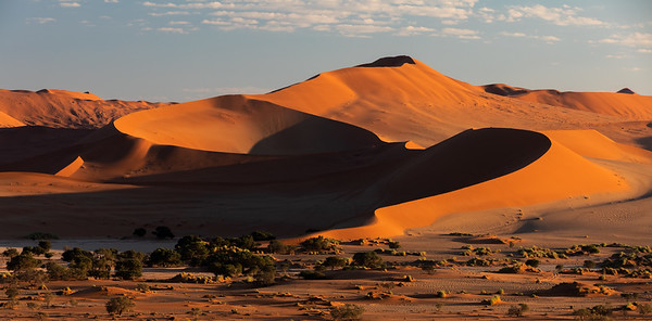 beautiful landscape Hidden Vlei in Namibia, Africa