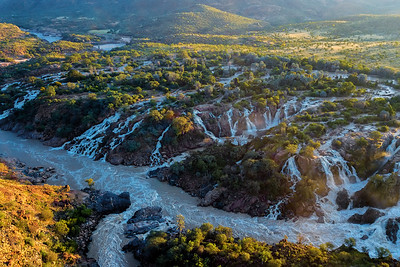 Epupa Falls on the Kunene River in Namibia