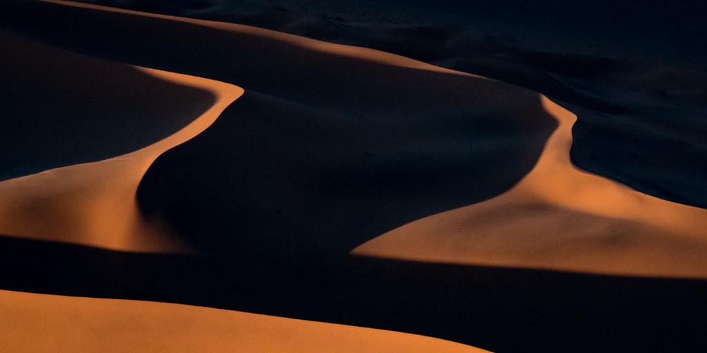 Helicopter view of Sossusvlei / Namib desert