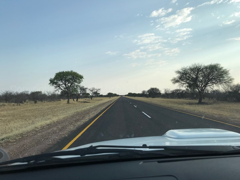 A typical Namibian road
