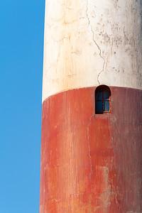 namibia, luderitz, architecture, lighthouses, shark island lighthouse, blue, red, white