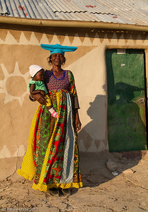 Herero woman and baby