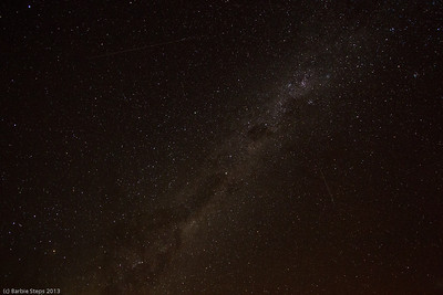 How about this sky !   Milky Way in Namibia.  See the shooting stars .