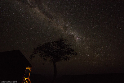 Milky Way in Namibia above the canyon