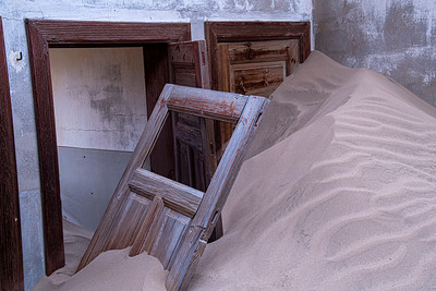 namibia, tsau //khaeb (sperrgebiet) np, kolmanskop, diamond mine, ghost town, architecture, sand dunes, doorways, doors