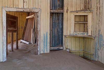 namibia, tsau //khaeb (sperrgebiet) np, kolmanskop, diamond mine, ghost town, architecture, sand dunes, doorways