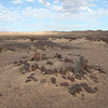 Strandloper stone circles near Cape Frio on the Skeleton coast