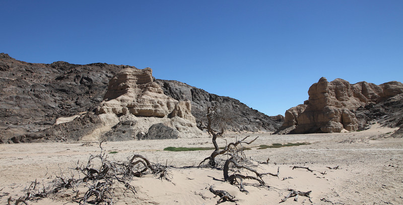 The clay castles in dry river beds feeding into the Hoarusib River valley