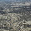 Aerial view of stunning Namibian geology