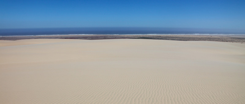 The view to the ocean from the Hoarusib dunes