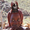 A beautiful Himba girl in her village in the Hoarusib valley