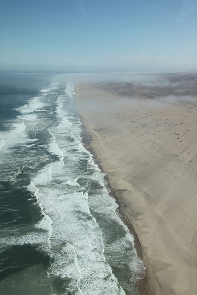 Flying along the Skeleton Coast