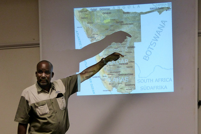 Uanee introducing Namibia