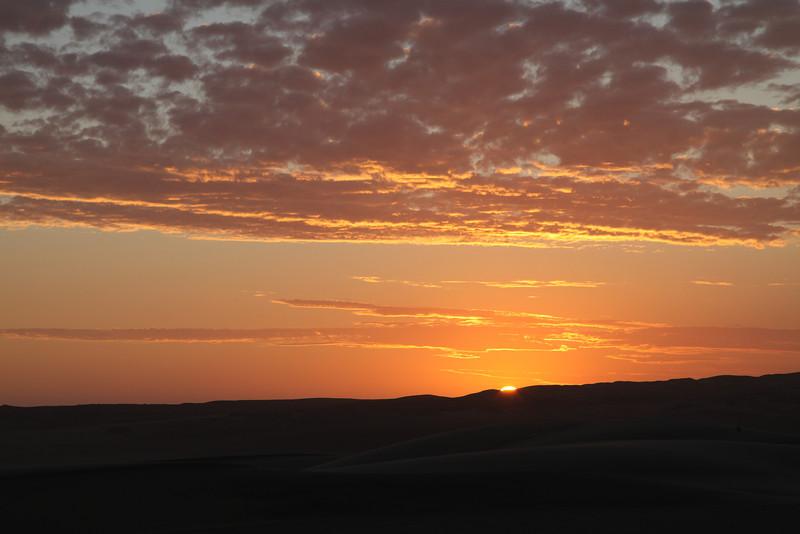 Sunset near Skeleton Coast camp
