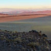 Sunset on Namib Desert