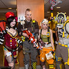 Mad Moxxi, Axton, Tiny Tina, and Krieg