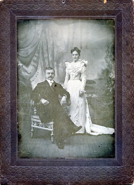 David R Hirschler, wife Josephine Abbott Wedding photo, DRHirschler, Josephine Abbot