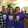 Meghan Taurus of Wilmington, who sang the national anthem, with Elks members Bob Lowney of Chelmsford, left, and Tim Costos of Fitchburg