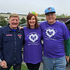 From left, Dick Hoyt of Team Hoyt with founders and race co-directors Nancy and Don Patch of Chelmsford